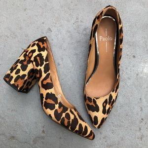 NWOT Linea Paolo Blair pumps cheetah calfhair sz 8